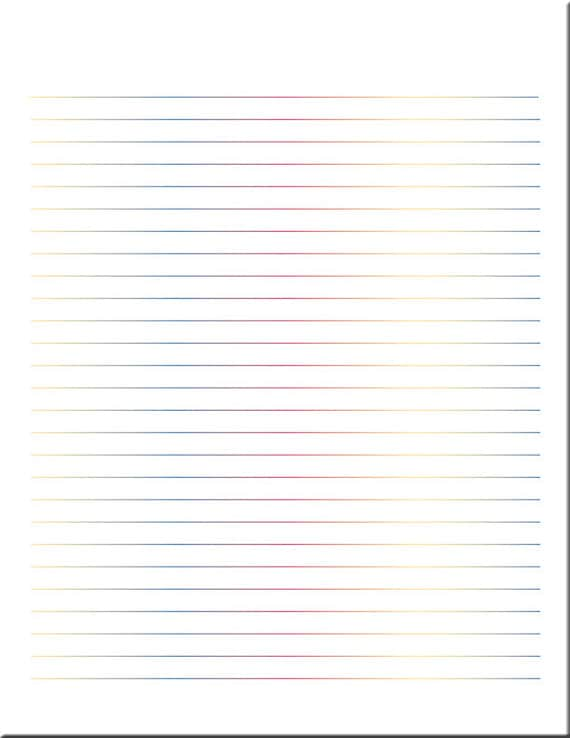 Multicolor Lined Paper / Lined Stationery / Writing Paper / Digital Lined  Paper / Printable Paper / PDF  Lined Stationary Paper