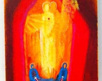 Spirit. Abstract Christian Art PRINT