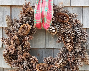 Beautiful Holiday Pinecone Wreath