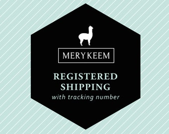 Add to your order: registered shipping with tracking number