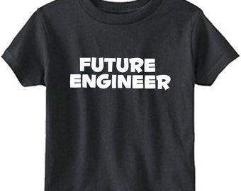Future Engineer- boy or girl t-shirt -kids -t-shirt, children's clothing , engineeing, youth or toddler- size and color choice