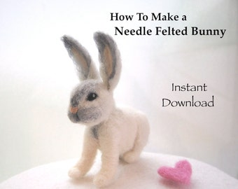 DIY Bunny Needle Felting Tutorial. Felting Tutorials. Needle Felting Instructions. How to Needle Felt Animals. How To Felt Bunnies