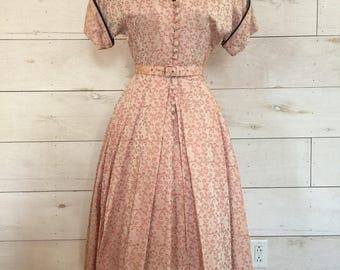 Darling 1950's Pink Brocade Dress