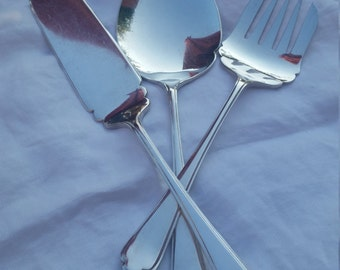 Set of 3 vintage Sheffield silver plate serving pieces