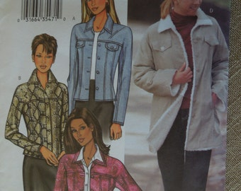 Butterick 3595, sizes 6-10, misses, womens, teens,lined  jacket, UNCUT sewing pattern,craft supplies