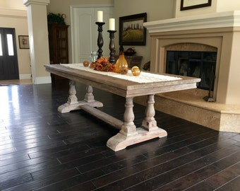 Table, Dining Table, Reclaimed Wood, Trestle Table, Wood Table, Handmade