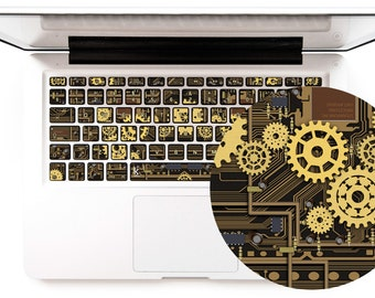 steampunk macbook keyboard stickers steampunk macbook decal laptop decal macbook pro keyboard sticker stickers macbook pro # Steampunk