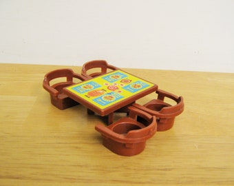 Vintage Fisher Price marron Table et chaises