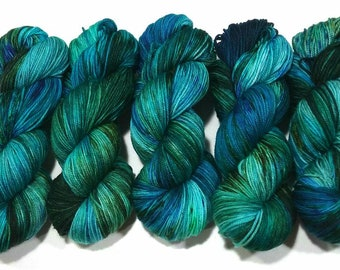 Juniper: Dyed to Order Hand Dyed Yarn - Suitable for knitting and crochet