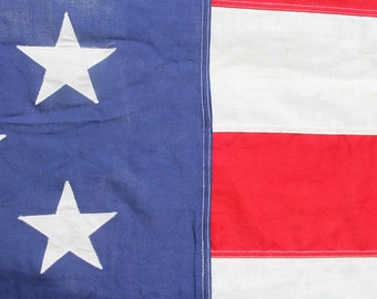Large Vintage Cotton Valley Forge American Flag // 50 Stars / Americana Decor // 10' x 5'
