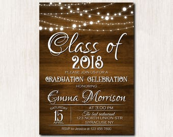 Graduation Celebration invitation, High School Graduation Invitation, College Graduation Party Invitation, Class of 2018 party - 1647