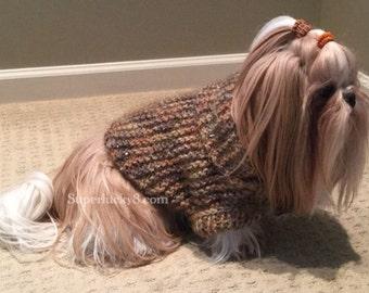 Knitting PDF pattern , very easy one size dog shrug knit pattern