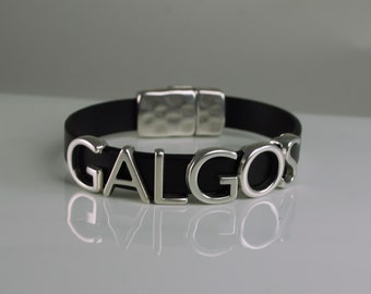 Galgos Leather Bracelet Snap Closure Choice of Color