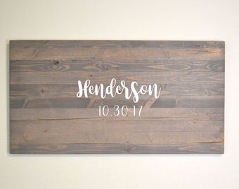 Rustic Wedding Guestbook Alternative, Rustic wedding, Guest Book Alternative, Wedding Guest Book, Personalized Guestbook, Custom Guestbook