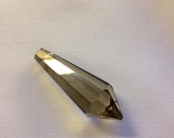 5 ~ 38mm HONEY Icicle Crystal Prism - 38mm HONEY U-Drop Chandelier Crystal Prism Pendant