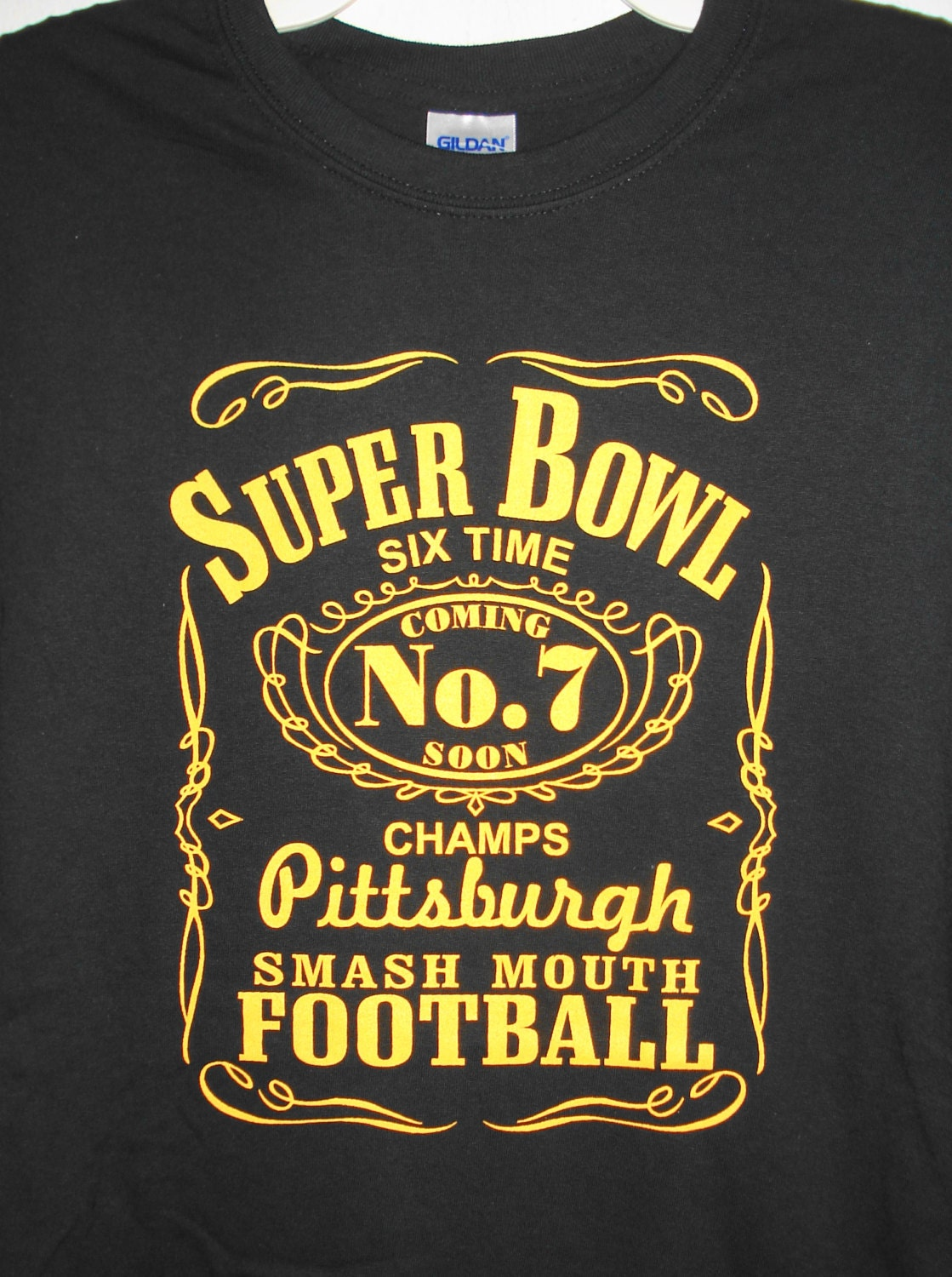 Pittsburgh Steelers Six Time Champs T-shirt Size Adult S-6XL