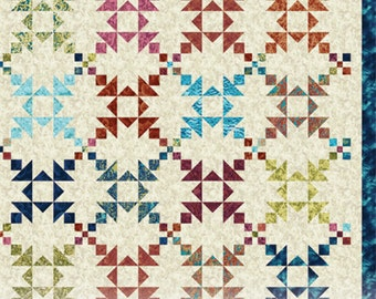 Island Chain Large Throw or Full Quilt Pattern Version No. 1 by Eye Candy Quilts