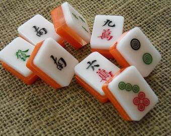 Triple couche Mahjong - Mahjong Crafts - Mahjong - Mahjong Tiles pour l'artisanat - fournitures Mahjongg - livraison gratuite - Mahjong rose carreaux de couleur