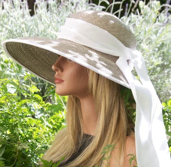 Wedding hat, Women's Taupe Hat, Ascot Hat, Audrey Hepburn Hat, Formal Hat, Breakfast at Tiffany's Hat, Ladies Summer Hat, garden party hat