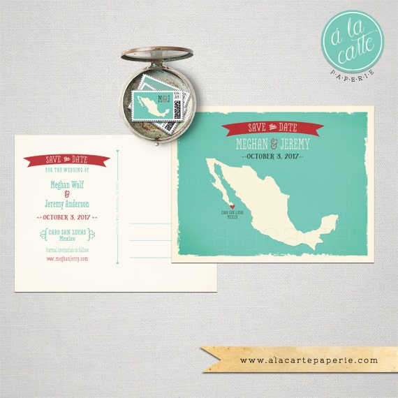Destination wedding invitation Mexico Los Cabos Cabo San Lucas