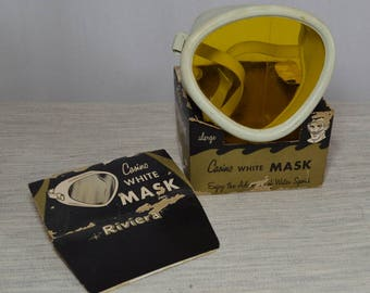 Vintage Riviera Casino Dive Mask in White with Box