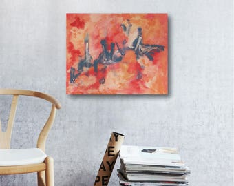 Cityscape // Artist Charlie Albright // Blog Moments by Charlie // Abstract Art in Acrylics