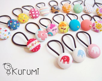 Chose Three Pairs!!  Fabric Button Hair Tie