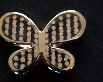 Pearl Butterfly gold transparent