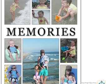 INSTANT DOWNLOAD- Memories collage/storyboard - custom photo template for photographers