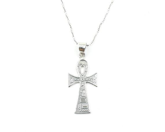 Sterling Silver Ankh Necklace, Key Of Life, Egpytian Jewelry, Spiritual, Boho, Gypsy, Festival