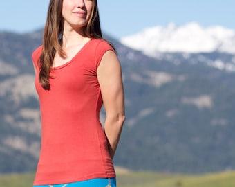 Chemise bio coton & soja Simple tee-shirt - fait à la main vêtements bio - respectueux de l'environnement des femmes