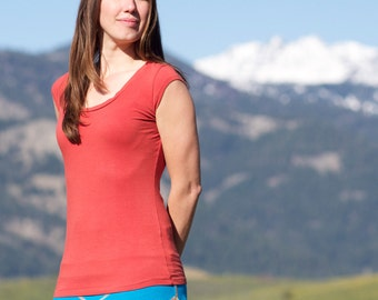 Organic Cotton & Soy Simple Tee - Handmade Organic Clothing - Eco-friendly Women's Shirt