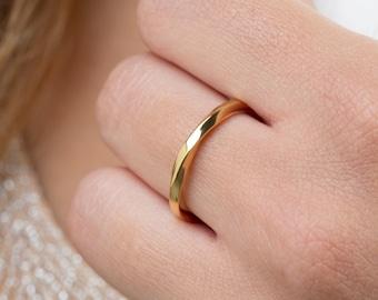 Mobius ring, Handmade Mobius ring,  Wedding band,  Rose mobius ring , SOLID GOLD mobius ring , Promise ring,          Mobius 1.9mm
