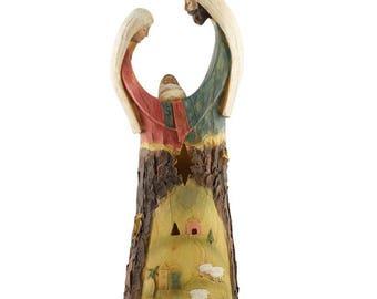 "12.25"" Glowing Light Holy Family Nativity Figurine"
