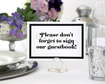 Romantic Guestbook Sign Wedding Printable Deco Guestbook Card Sign