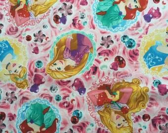 SALE Disney princess fabric pink colour ONE yard