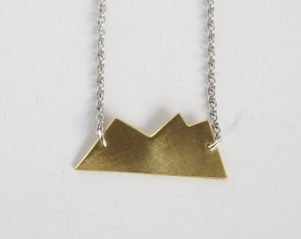 Mountain Necklace, brass