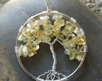 Citrine Tree of Life Wire Wrapped Pendant