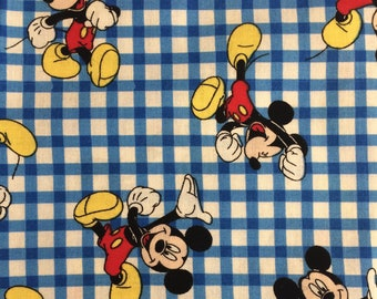 Mickey Mouse Blue Gingham