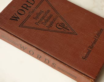 Antique Book Spelling Primer WORDS Second Edition