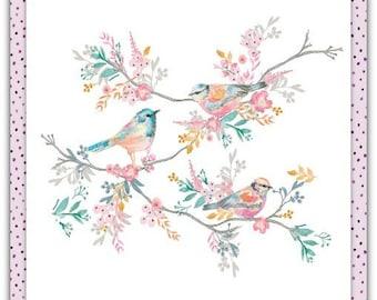 'The birds' birthday greeting card with envelope 15cm x 15cm