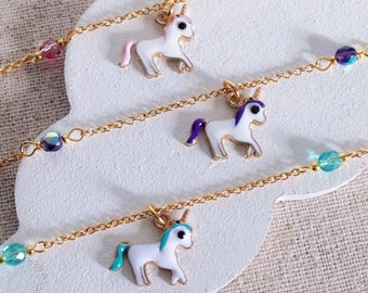 Unicorn for girls - kids jewelry - unicorn jewels bracelet for little boy