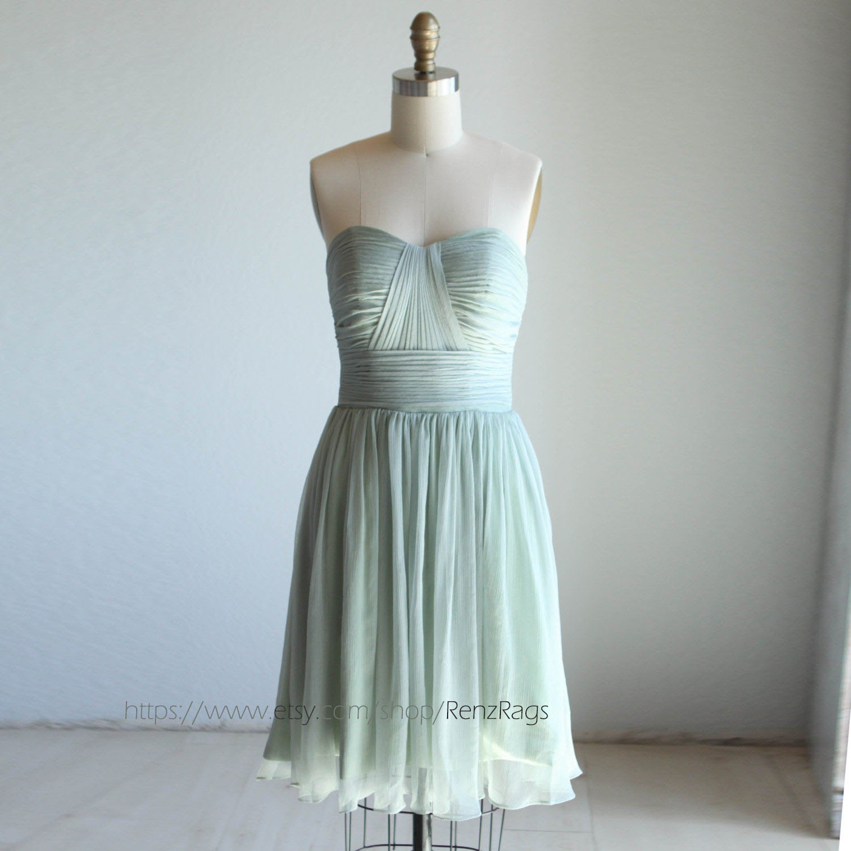 Bridesmaid Dress Dusty Mint Chiffon DressSweetheart Party