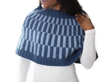 Lettie Capelet Knitting Pattern - Knit Fair Isle Cape Pattern