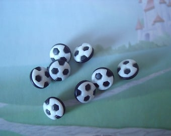 Small Soccer Ball Novelty Buttons