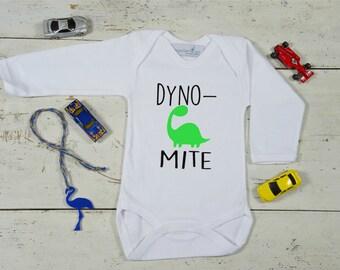 Dinosaur Baby Onesie, Hand Painted Onesie,Short/Long Sleeve,Custom Onesies,Bodysuit,Newborn onesie,Baby Bodysuit, Newborn Gift