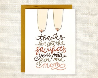 Mother's Day Card - Sacrifices