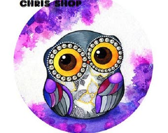 23mm OWL purple/white background