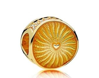 New Authentic Pandora Charm Bead Shine RAYS OF SUNSHINE 767128EN158