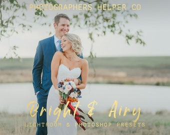 Bright And Airy Lightroom Presets for Wedding And Portrait Lightroom Presets & Photoshop Filters for Photographers